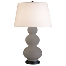 Triple Gourd Table Lamp in Smokey Taupe with Bronze Base