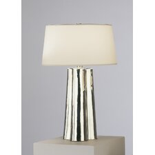 "Wavy 26.25"" H Table lamp with Empire Shade"