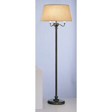 "Abbey Bronze Four Light 56"" H Torchiere Floor Lamp"