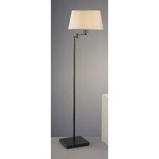Real Simple Swing Arm Floor Lamp with Dark Bronze Powder Coat