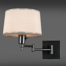 Real Simple Swing Arm Wall Lamp in Gunmetal