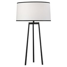 "Shinto Tripod 32.25"" H Table Lamp with Drum Shade"