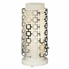 "Jonathan Adler Parker Torchiere 32.75"" H Table lamp with Drum Shade"