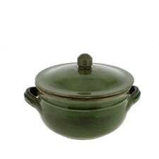 Classic Stoneware Two Handle Lidded Pot