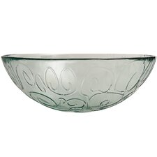 Mediterranean Wave 12-inch Ice Clear Serving Bowl