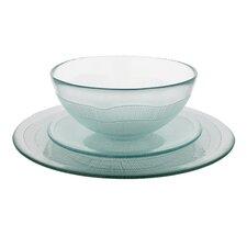 Recycled Glass 12 Piece Dinnerware Set