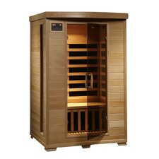 2 Person Hemlock Deluxe Infrared Sauna with 6 Carbon Heaters