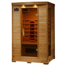 2 Person Hemlock Deluxe Infrared Sauna with 5 Ceramic Heaters