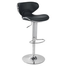 Adjustable Height Bar Stool with Cushion (Set of 2)