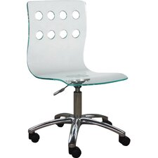 Low-Back Acrylic Office Chair