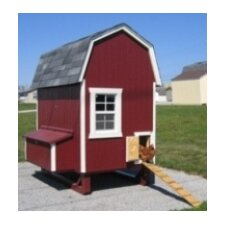 Gambrel Barn Chicken House with Nesting Box and Ramp