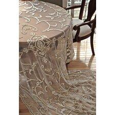 Tudor Debage Appliqué Net Table Cover In Antique