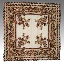 Tudor Appliqué Velvet Table Cover