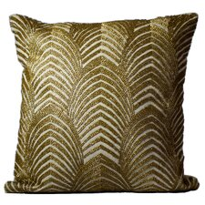 Mirasol Beaded Gold Wave Down Feather Throw Pillow (Set of 2)