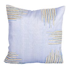 Sea Side Beaded Corners Natural/Organic Throw Pillow
