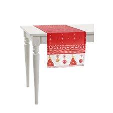 Two Side Little Christmas Trees Table Runner