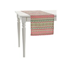 Christmas Pixelated Zigzags Line Table Runner