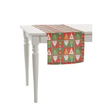 Mirror Christmas Tree Table Runner