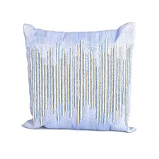 Sea Side Beaded Center Natural/Organic Throw Pillow