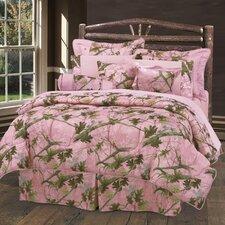 Pink Oak Camo Comforter Set