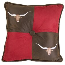 Tahoe Longhorn Synthetic Throw Pillow