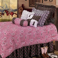 Pink Paisley 5 Piece Comforter Set