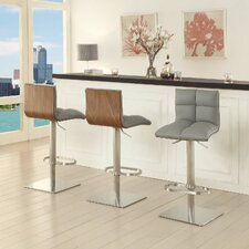 Tristan Adjustable Height Swivel Bar Stool With Cushion