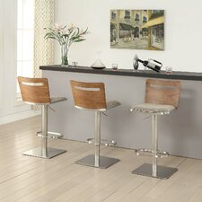 Danika Adjustable Height Swivel Bar Stool With Cushion