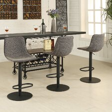 Mercury Adjustable Height Swivel Bar Stool With Cushion