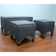 3 Piece Upholstered Entryway Bench Set