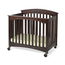 Royale Fixed Side Folding Compact Convertible Crib with Mattress