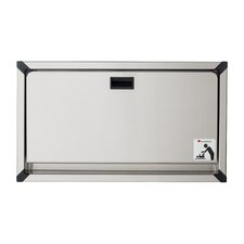 Recessed Stainless Framed Clad Changing Station for Public Washroom