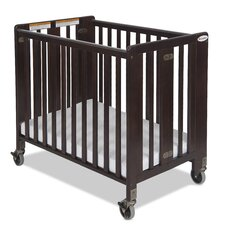 Hideaway Storable Wood Convertible Crib with Mattress