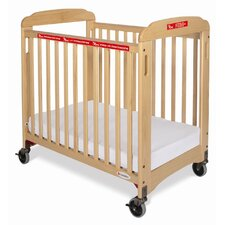 First Responder Compact Sided Evacuation Clearview Convertible Crib with Mattress