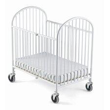 Pinnacle Folding Compact Convertible Crib with Mattress