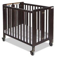 Hideaway Compact Folding Convertible Crib with Mattress