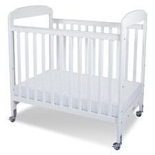Serenity Compact Size Fixed Side Clearview Convertible Crib with Mattress