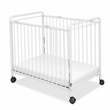 Chelsea Clearview Compact Steel Non-Folding Convertible Crib with Mattress