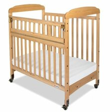 Serenity Safereach Fixed Side Mirror End Compact Convertible Crib with Mattress