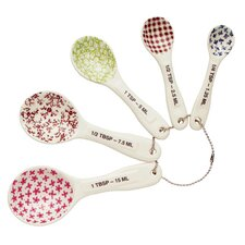 5 Piece Stoneware Measuring Spoon Set