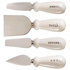 4 Piece Cheese Knife Set