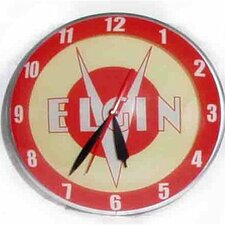 "Double Bubble 14.5"" Elgin Bicycle Wall Clock"