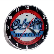 "Double Bubble 14.5"" Columbia Bicycle Wall Clock"