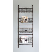 Inspired Home Metal Leaning Shelf