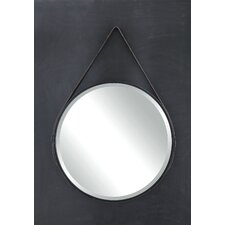 Terrain Round Metal Mirror with Leather Strap
