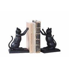Cast Iron Cat Book End (Set of 2)