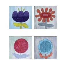 Haven Flower Wall Plaque (Set of 4)