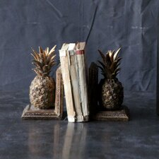 Resin Pineapple Book Ends (Set of 2)