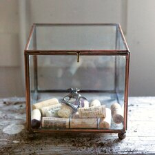 Sonoma Square Brass and Glass Display Box