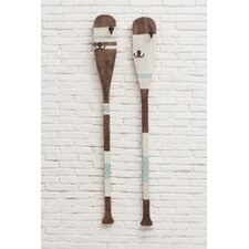 2 Piece Wood Paddle Wall Décor Set (Set of 2)